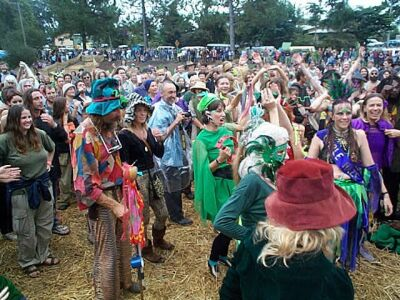Some of the crowd at Mardigrass.